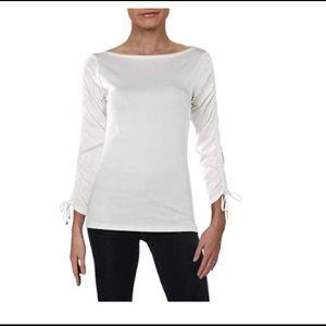 Ralph Lauren  Lauren Drawstring-Sleeve Top